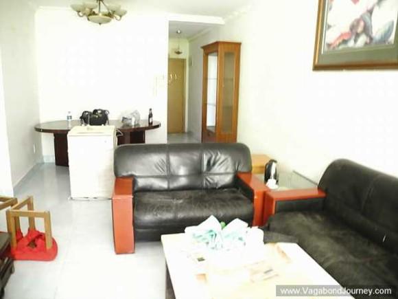 Le salon de notre appartement